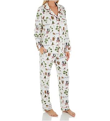 BedHead Pajamas Warm Wishes Santa Organic Cotton PJ Set