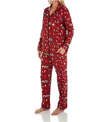 BedHead Pajamas Peanuts Winter Fun Organic Cotton PJ Set