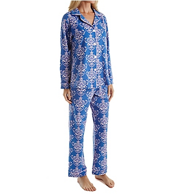 BedHead Pajamas Navy Painted Damask Long Sleeve PJ Set
