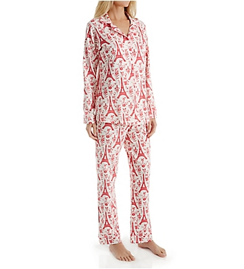 BedHead Pajamas Poinsettia Eiffel Long Sleeve PJ Set