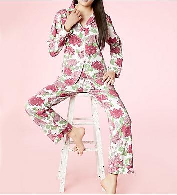 BedHead Pajamas Coral Mums Pajama Set