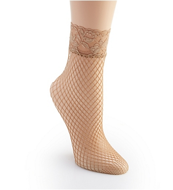 Berkshire Fishnet Anklet with Lace Top