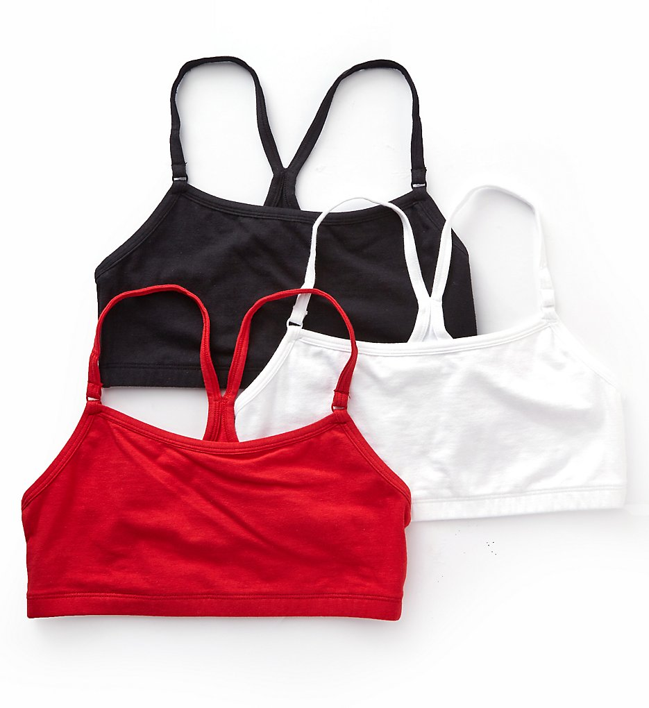 Bestform - Bestform 5006547 Low Impact Racerback Bra - 3 Pack (Red/Black/White 32)