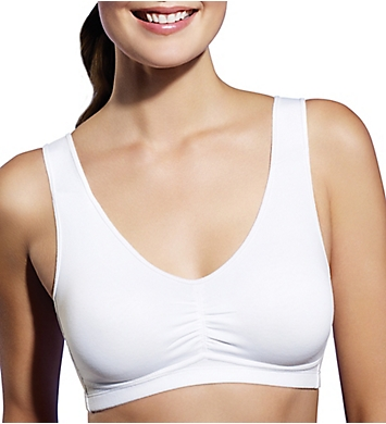 Bestform Cotton Shirred Front Removable Pad Bra