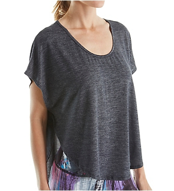 Beyond Yoga Cloud Heather Scalloped Tee