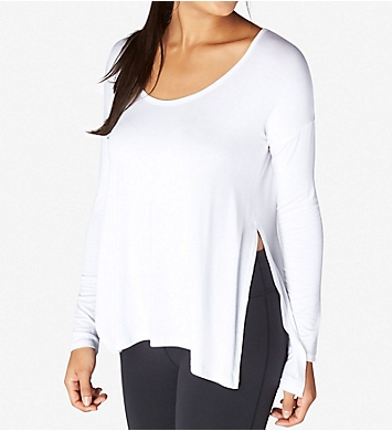 Beyond Yoga Slinky Modal Long Sleeve Side Slit Pullover Top