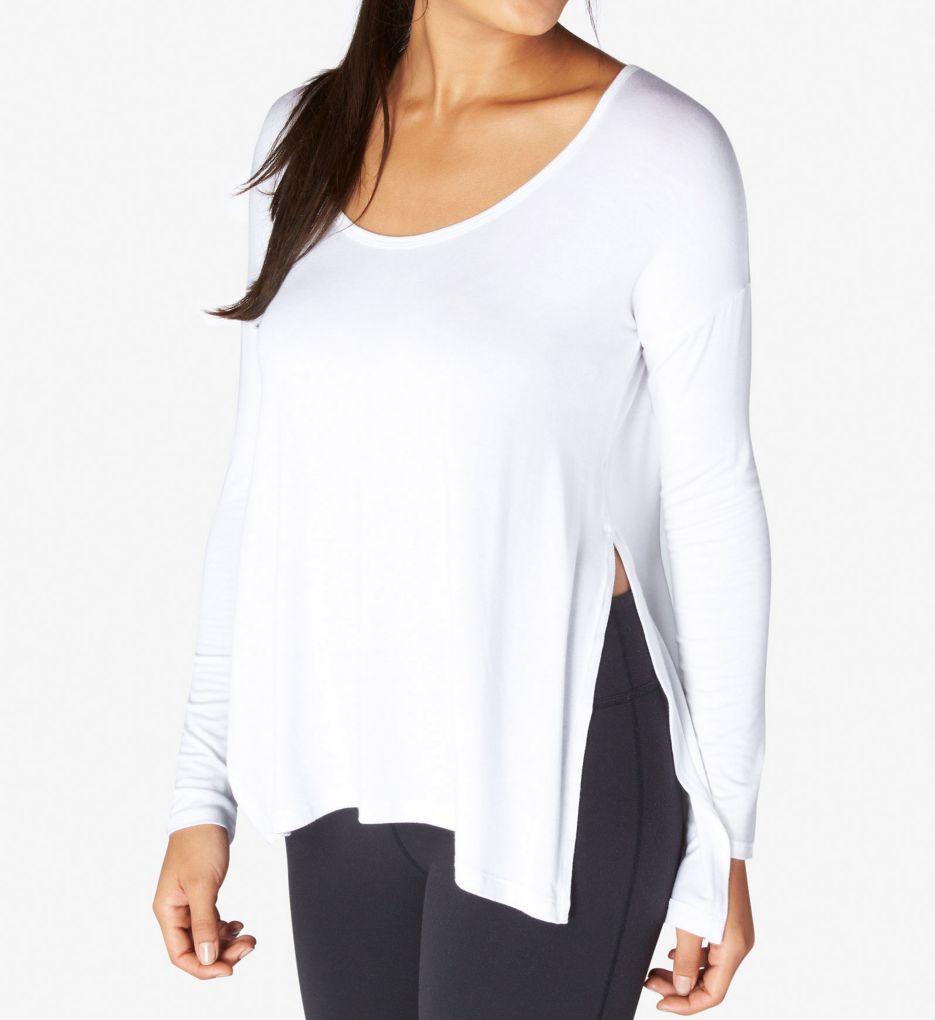 Beyond Yoga Slinky Modal Long Sleeve Side Slit Pullover Top