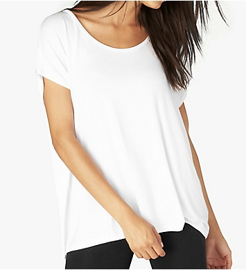 Beyond Yoga Slinky Modal Jersey Back Out Tee