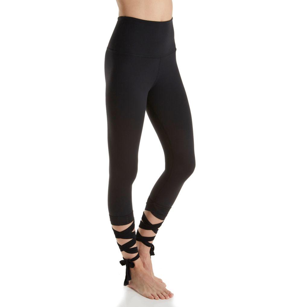 Beyond Yoga Just Your Stripe High Waist Wrap Tie Capri Legging