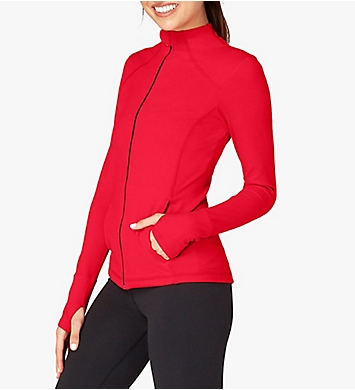 Beyond Yoga Hip To Zip Supplex Fitted Mock Neck Jacket