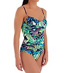 It's A Jungle Out There Draped One Piece Swimsuit