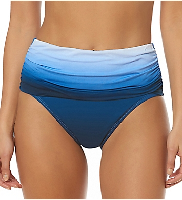 Bleu Rod Beattie Hola Ombre Shirred High Waist Brief Swim Bottom