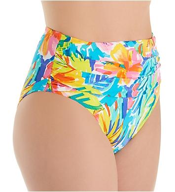 Bleu Rod Beattie Bloom In Love High Waist Shirred Brief Swim Bottom