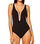 Let's Get Knotty Lace Down Mio One Piece Swimsuit