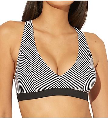Bleu Rod Beattie Inside The Lines Over The Shoulder Bra Swim Top