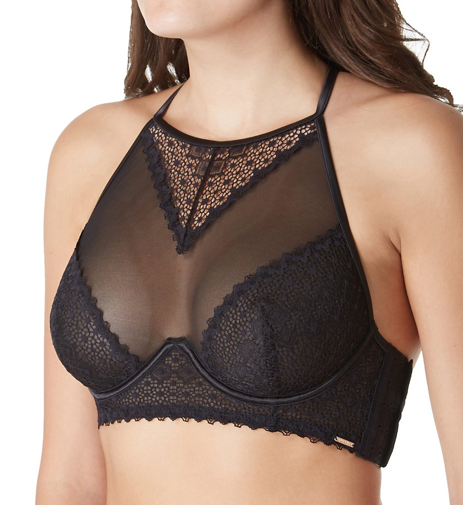 Bluebella >> Bluebella 40161 Marcia High Neck Crop Bra (Black 30C)