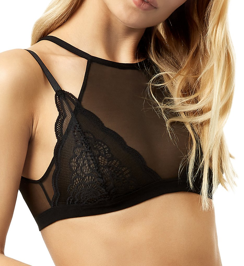 Bluebella >> Bluebella 40309 Astrid High Neck Crop Bra (Black L)