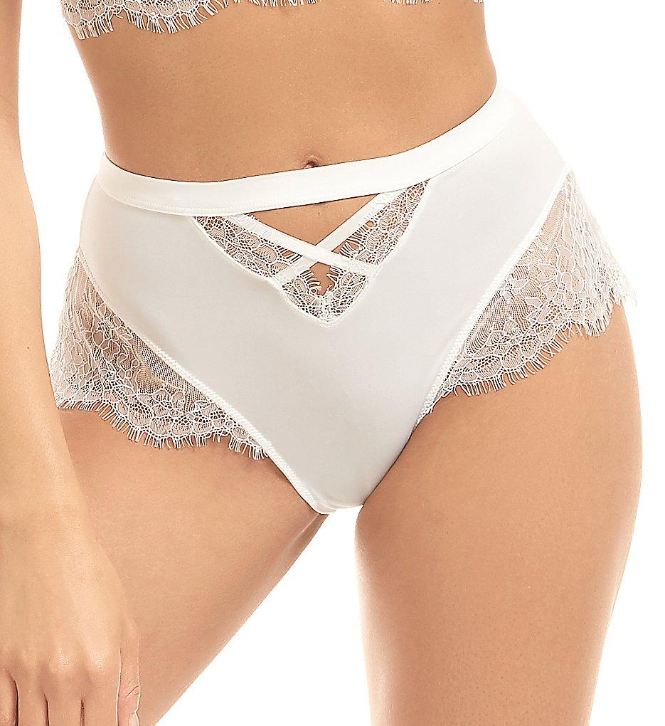 Bluebella - Bluebella 40590 Nyane High-Waisted Brief Panty (White S)