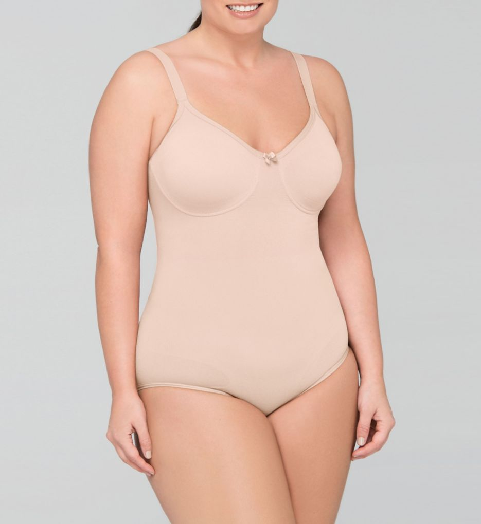 Body Wrap The Pinup Plus Full Figure Bodysuit with Underwire