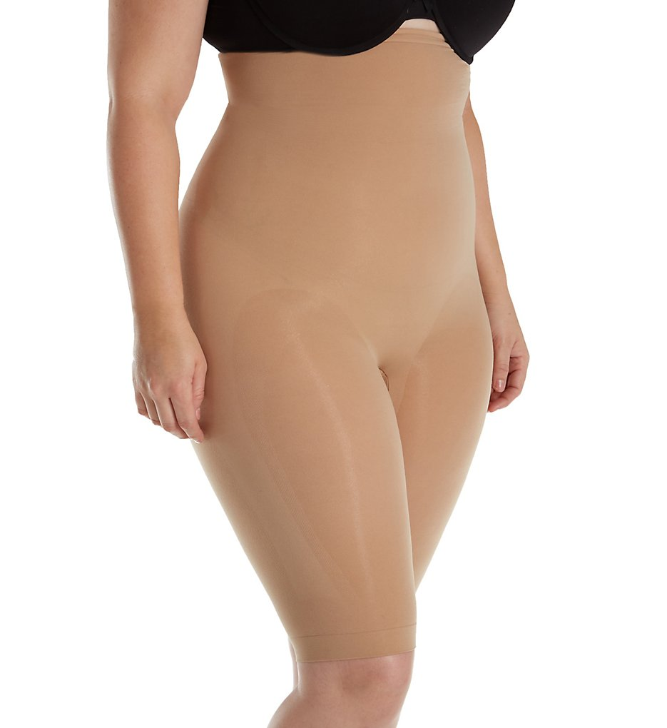 Body Wrap : Body Wrap 55821 The Catwalk Plus Size High Waist Long Leg Panties (Nude 4X)