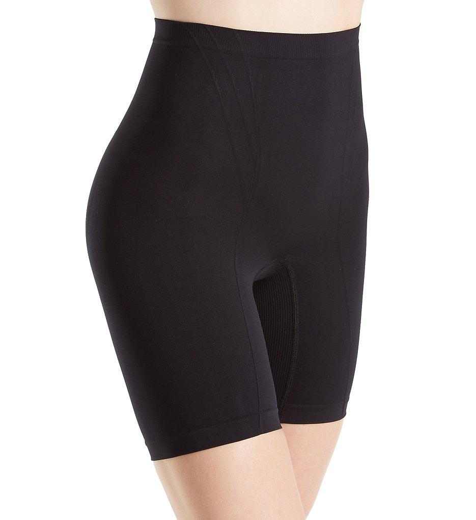 Body Wrap - Body Wrap 6101542 Retro Lites Long Leg Panty (Black S)