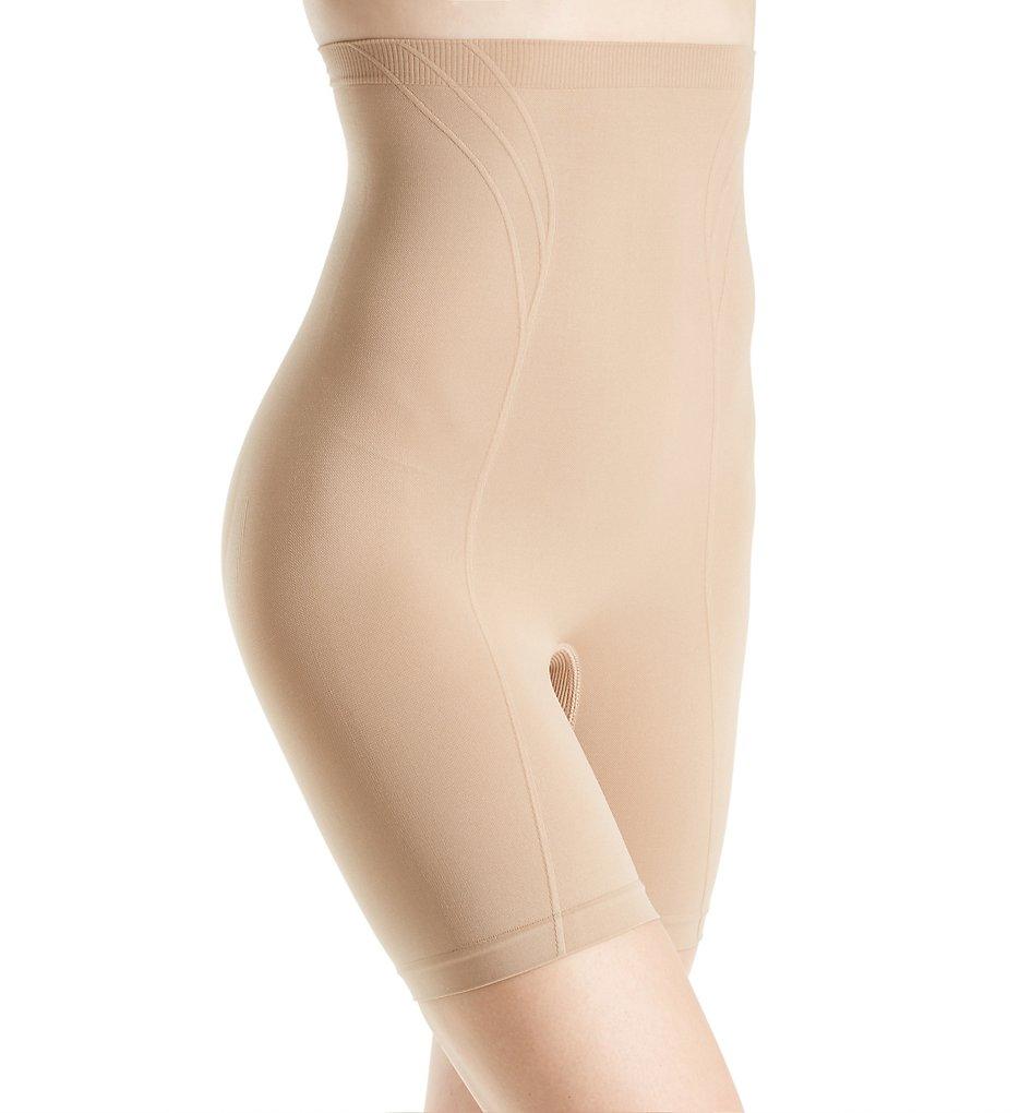 Body Wrap >> Body Wrap 6101642 Retro Lites High Waist Long Leg Shaping Panty (Beige M)
