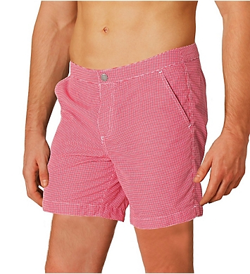 Boto Rio Tailored Fit Check Swim Trunk w/ Support Liner