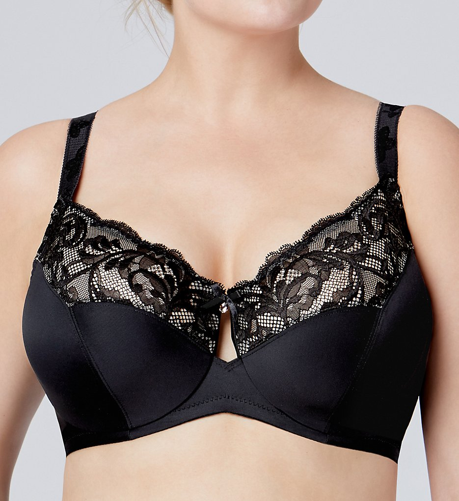 Bramour - Bramour 7006 Tribeca Back Close Underwire Bra (Black 40C)