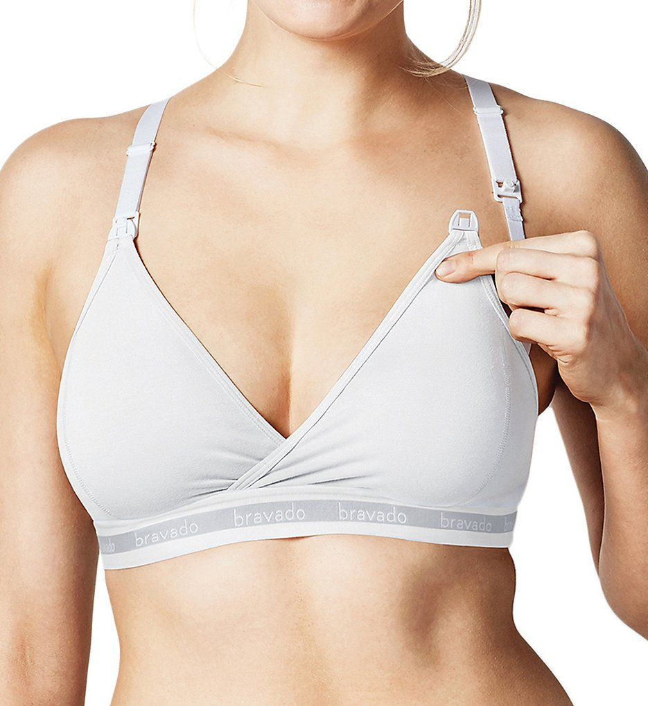 Bravado Designs 1014 Original Cotton Blend Nursing Bra (White)