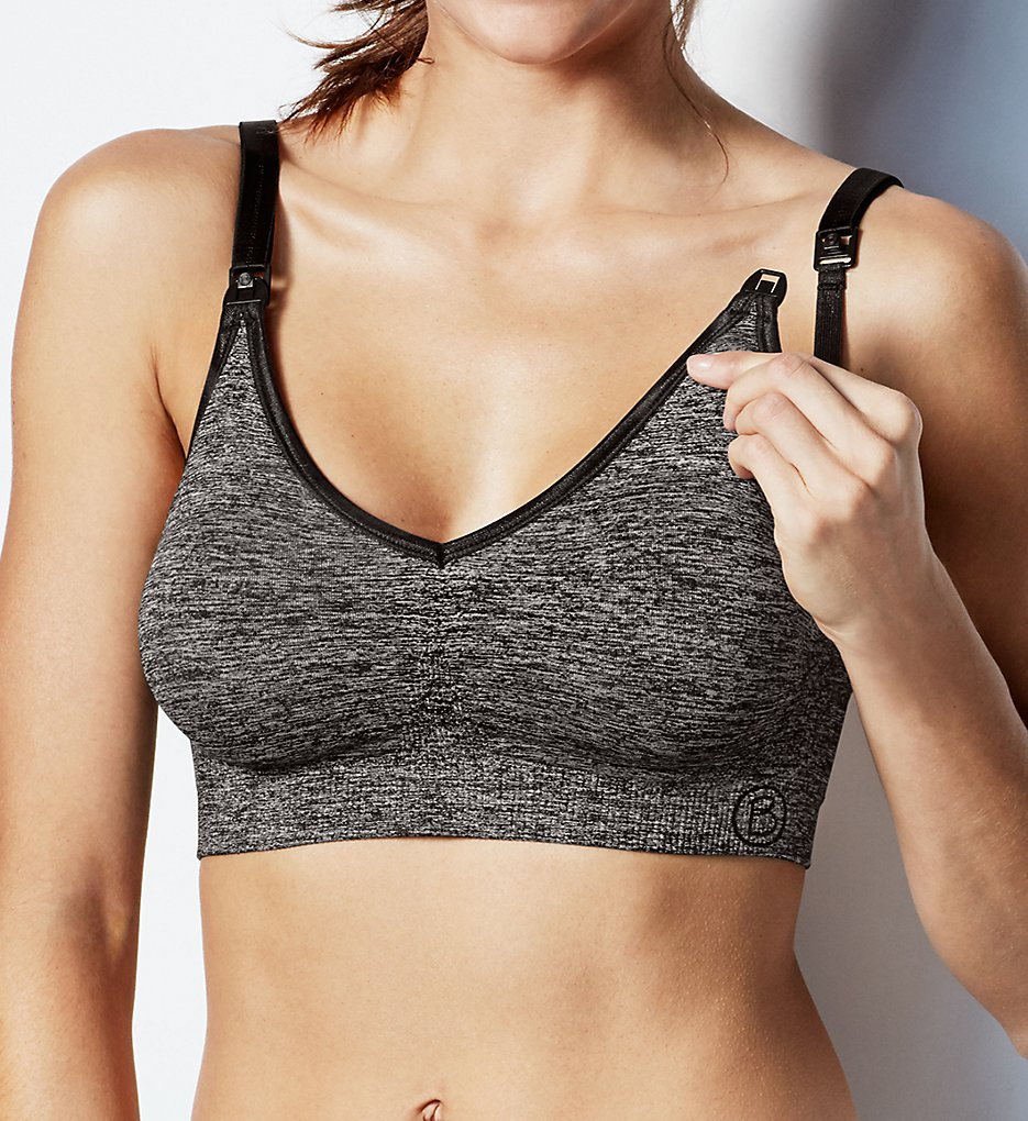 Bravado Designs >> Bravado Designs 1436 Body Silk Seamless Low Impact Sports Nursing Bra (Charcoal Heather S)