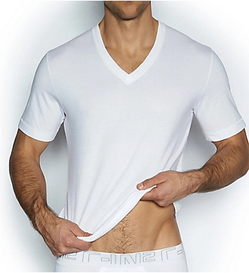C-in2 100% Cotton High V Neck T-Shirts - 3 Pack