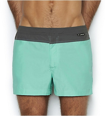C-in2 Fashion Solid Woven 2 Inch Swim Trunk