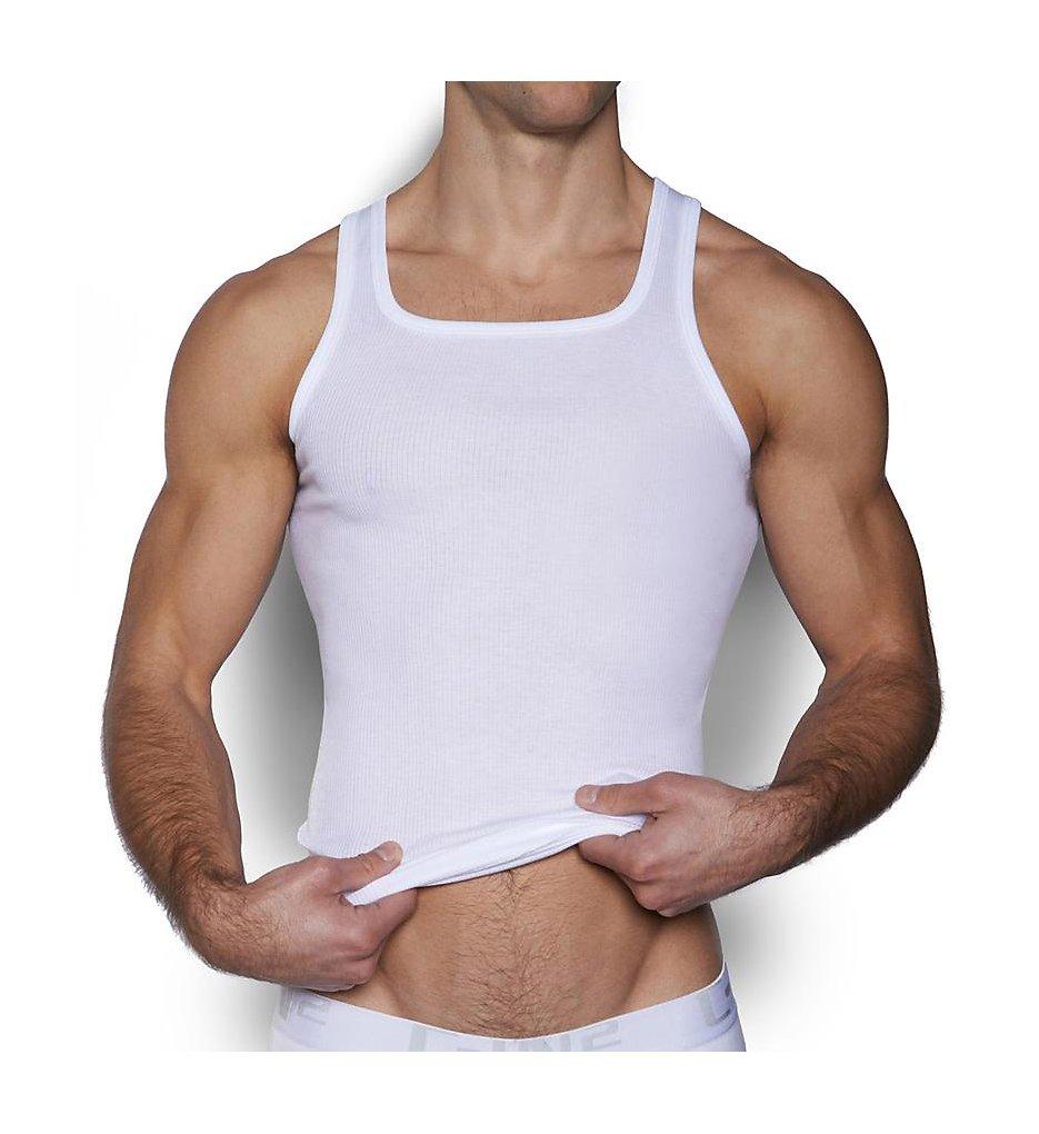 c-in2 4127 core basic 100% cotton square neck tank (white xl)