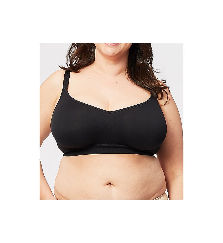 Cake Maternity - Cake Maternity 28-8005 Sugar Candy Seamless Everyday Full Busted Bra (Black XS)