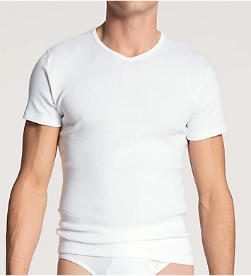 Calida Cotton Classic V-Neck T-Shirt