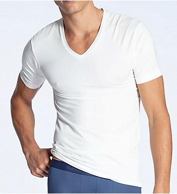 Calida 100% Natural Modern Fit V-Neck T-Shirt