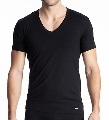 Calida Cotton Code V-Neck Shirt