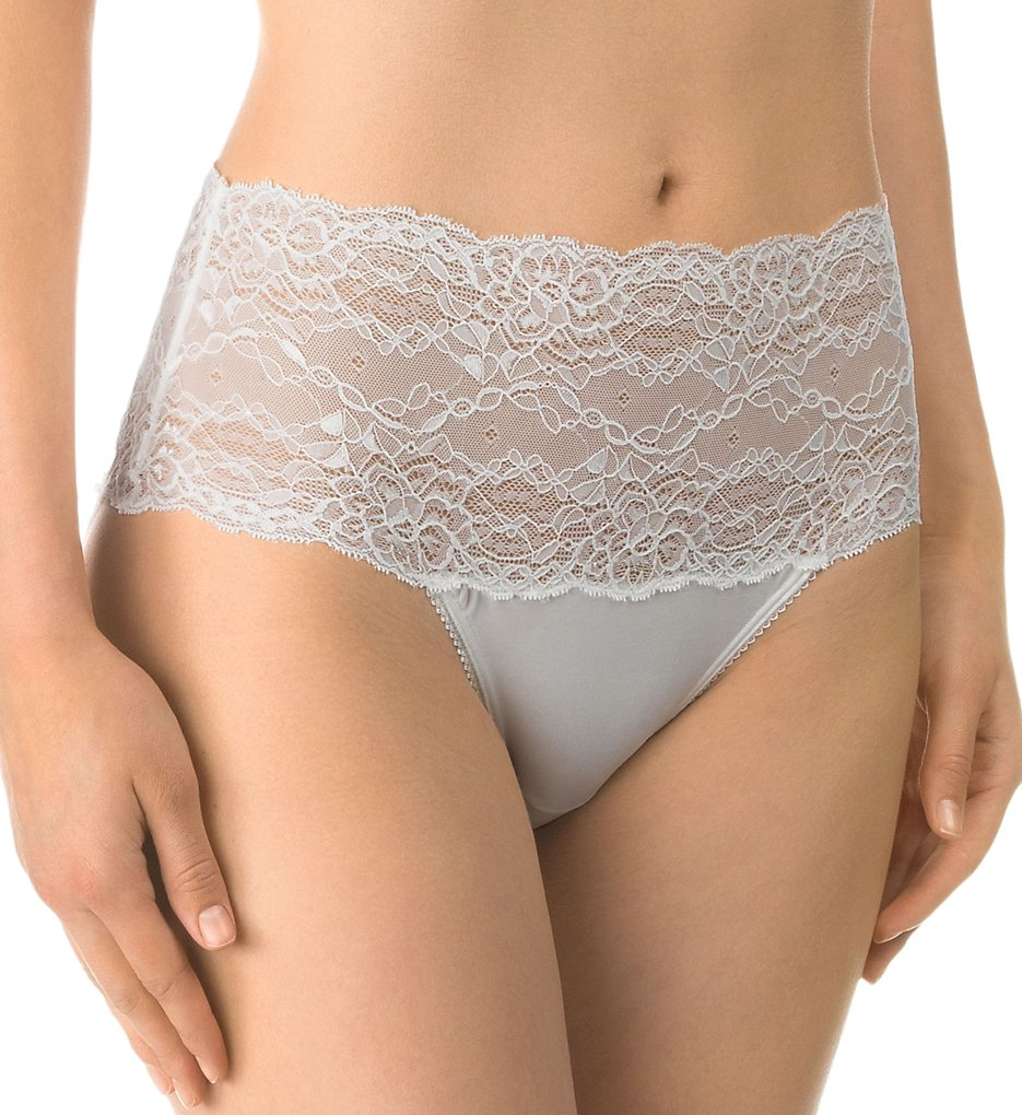 Calida >> Calida 21431 Sensual Secrets Lace High Waist Brief Panty (Alabaster Creme XXS)