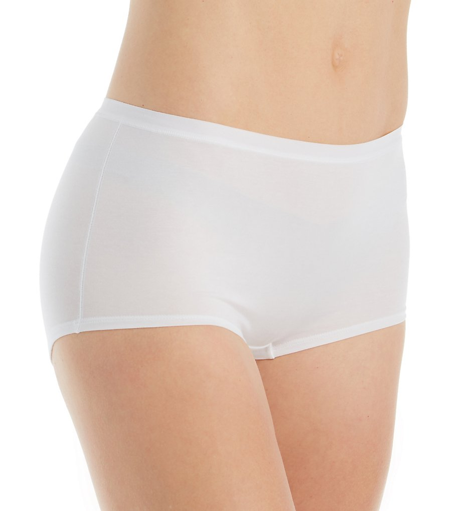 Calida - Calida 25175 Natural Comfort Cotton Boyshort Brief Panty (White S)