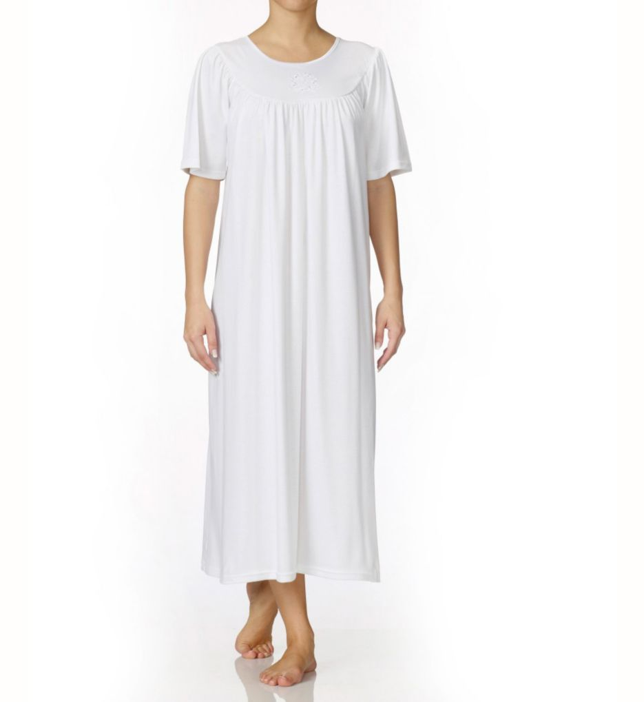 Calida Soft Cotton Short Sleeve Night Shirt Gown
