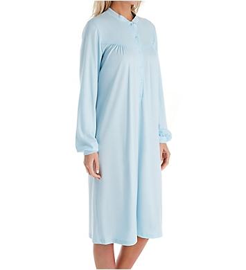 Calida Soft Cotton Long Sleeve Mandarin Collar Short Gown