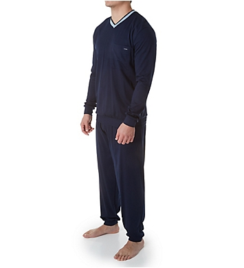 Calida Chill Out 100% Cotton Cuffed Pajama Set