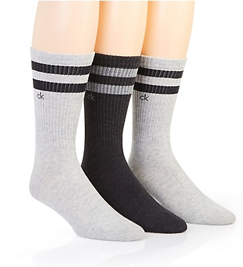 Calvin Klein Stripe Casual Crew Socks - 3 Pack