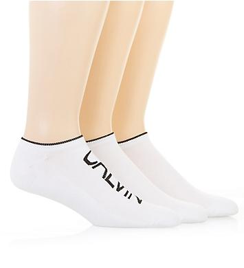 Calvin Klein Logo Cushion No Show Socks - 3 Pack
