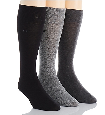 Calvin Klein Calvin Klein Flat Knit Crew Length Sock - 3 Pack