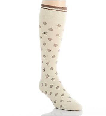 Calvin Klein Striped Cuff Dot Crew Sock