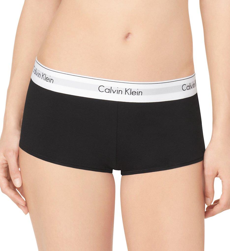 Calvin Klein - Calvin Klein F3788 Modern Cotton Boyshort Panty (Black L)