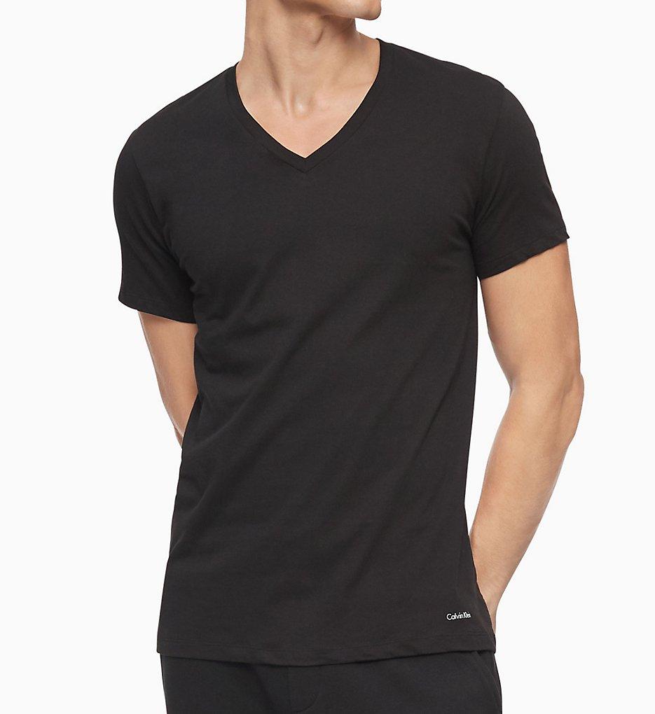 3d5b3a91ca Calvin Klein Cotton Classic Short Sleeve V-Neck Tees - 3 Pack M4065 ...