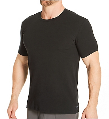 Calvin Klein Cotton Stretch Classic Fit Crew T-Shirt - 3 Pack