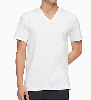 Calvin Klein Big & Tall Cotton V-Neck T-Shirt - 3 Pack